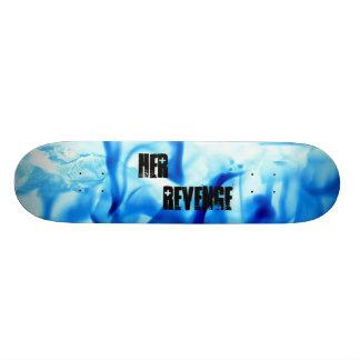 HER REVENGE BLUE SKATE BOARD