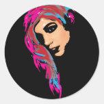 Her Round Stickers