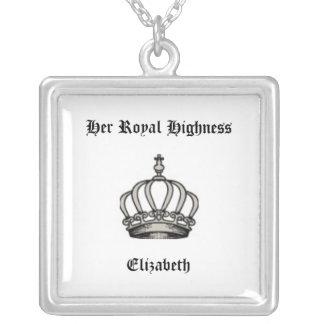 HER ROYAL HIGHNESS CROWN PRINCESS ELIZABETH CUSTOM PENDANT