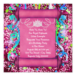 Girls 7th birthday party invitations announcements zazzle her royal highness princess birthday party card stopboris Choice Image