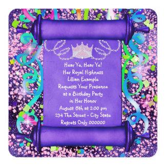Her Royal Highness Princess Birthday Party Card