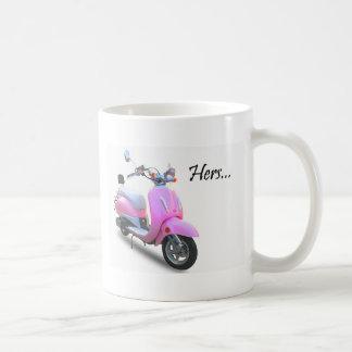 Her Scooter Classic White Coffee Mug