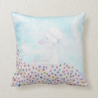 Her Shell by Megan Stone pillow