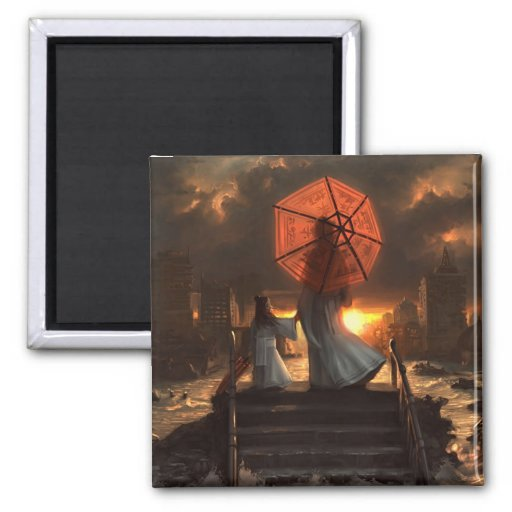Her Silent Silhouette 2 Inch Square Magnet