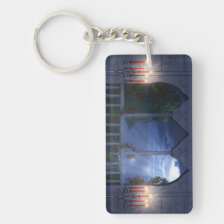 Her Silver Mantle Acrylic Keychain