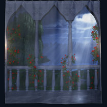 Her Silver Mantle Shower Curtain