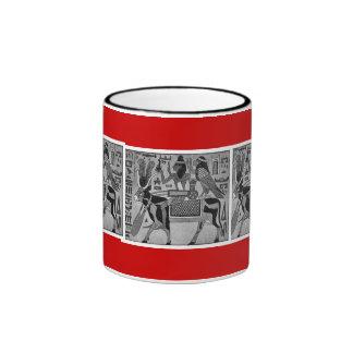 HER-storical Goddess Hathor Ringer Coffee Mug