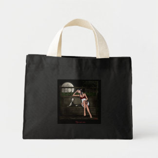 Her tall tale tote bag
