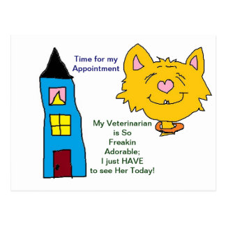 Her Veterinarian Appointment Cards