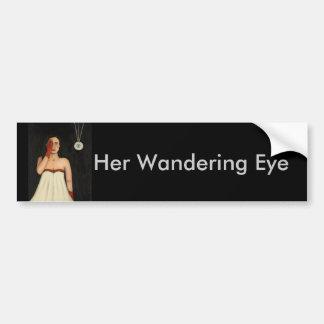 Her Wandering Eye 2 Bumper Sticker