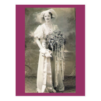 Her Wedding Day Postcard