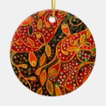 """""""Her Winter Heart"""" (painting) Christmas Tree Ornament"""