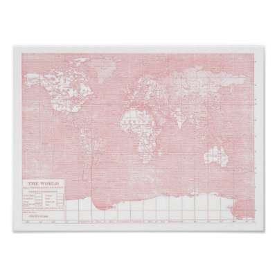 Girly pink map of the united states of america poster zazzle gumiabroncs Image collections