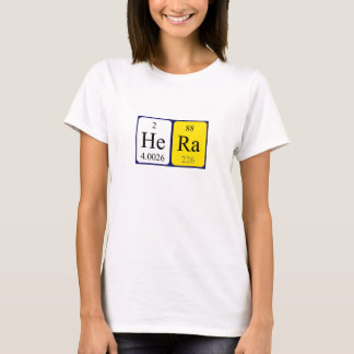 Hera periodic table name shirt