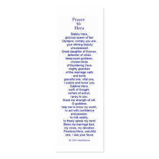 Hera Prayer Card Double-Sided Mini Business Cards (Pack Of 20)