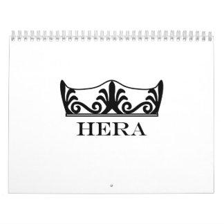Hera's crown (Engravers Font) Calendar