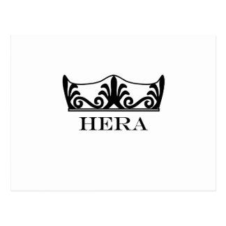 Hera's crown (Engravers Font) Postcard