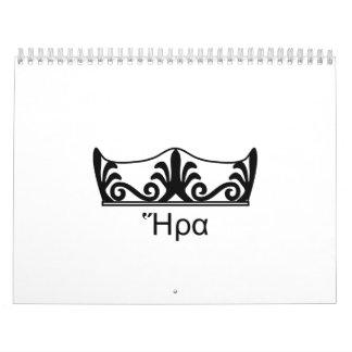 Hera's crown (Greek Font) Calendar