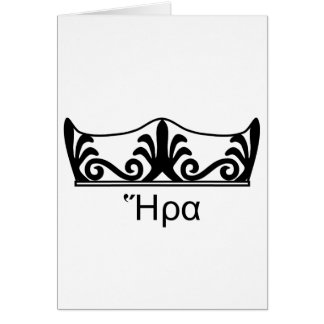 Hera's crown (Greek Font) Card