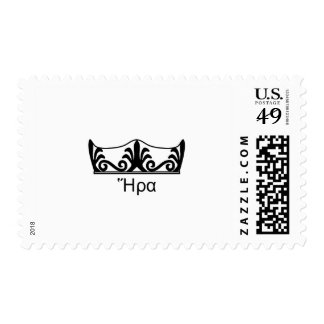 Hera's crown (Greek Font) Postage