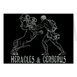 Heracles and Cerberus Card