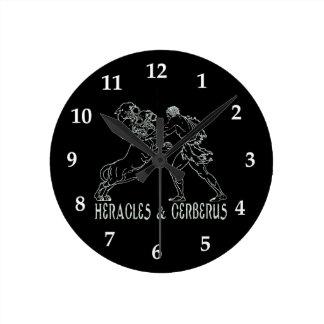 Heracles and Cerberus Round Clock