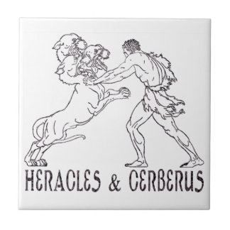 Heracles and Cerberus Tile