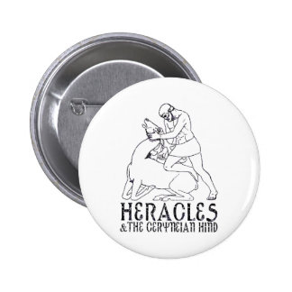 Heracles and the Ceryneian Hind 2 Inch Round Button