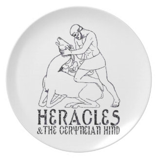 Heracles and the Ceryneian Hind Melamine Plate
