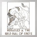 Heracles y la Bull de Creta Impresiones