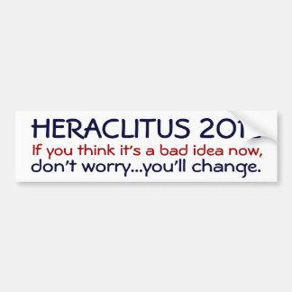 Heraclitus 2012 car bumper sticker