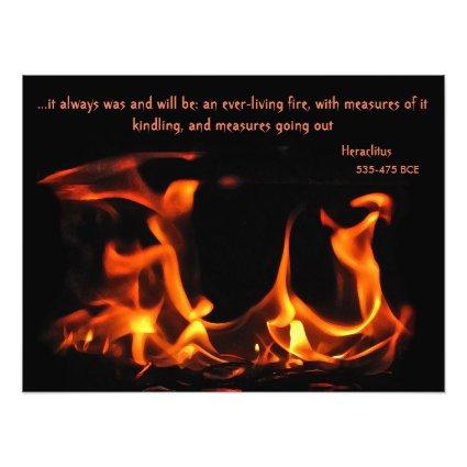 Heraclitus Everlasting Fire Photo Print