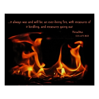Heraclitus Everlasting Fire Poster