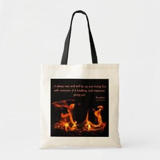 Heraclitus Everlasting Fire Tote Bag