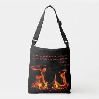 Heraclitus Orange Black Fire Quotation Tote Bag