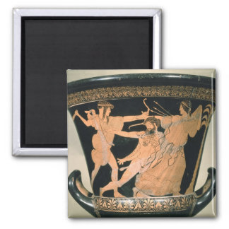 Herakles Struggling, detail from an Attic red-figu 2 Inch Square Magnet
