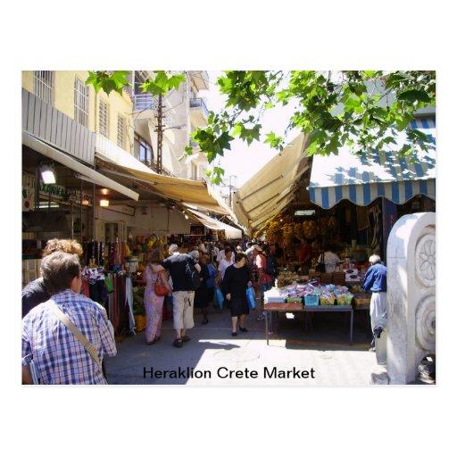 Heraklion Crete Market Postcards