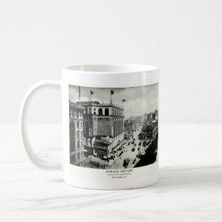 Herald 1898 New York City cuadrado Tazas De Café