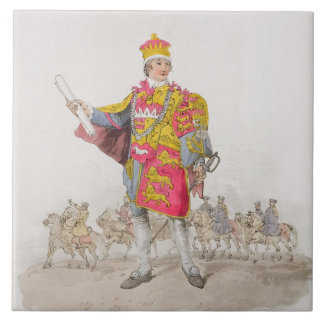 Herald, from 'Costume of Great Britain', published Ceramic Tile