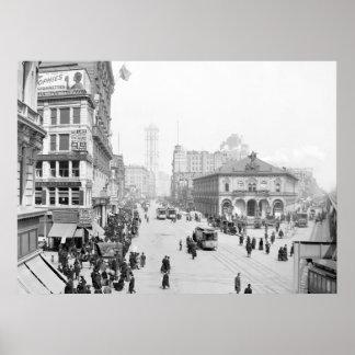 Herald Square, Nueva York, 1905 Poster