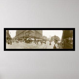 Herald Square, NYC Photo 1907 print