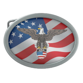 Heraldic American Bald Eagle Belt Buckle