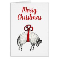 Heraldic Banded Fleece Ram Sheep Crest Christmas Card