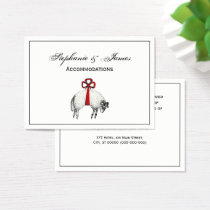 Heraldic Banded Fleece Ram Sheep Crest Emblem Business Card
