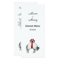 Heraldic Banded Fleece Ram Sheep Crest Emblem Card