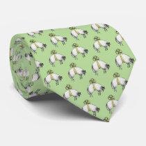 Heraldic Banded Fleece Ram Sheep Crest Emblem Tie