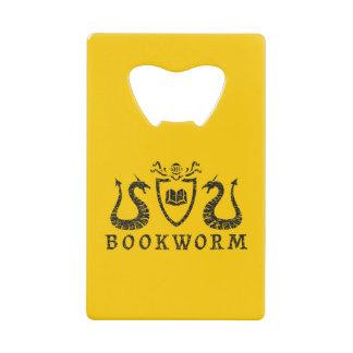 Heraldic Bookworm Bottle Opener Credit Card Bottle Opener