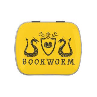 Heraldic Bookworm Candy Tin
