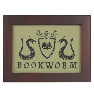 Heraldic Bookworm Keepsake Box