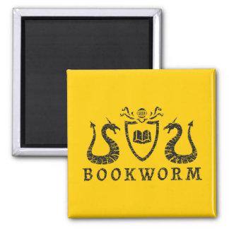 Heraldic Bookworm Magnet